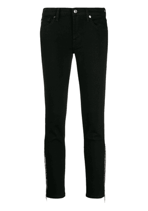 7 For All Mankind micro stud fringed jeans - Black