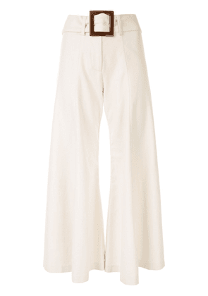 Alexis Markos flared cropped trousers - NEUTRALS