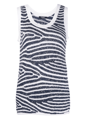 Balmain sequin-embellished knitted tank top - White