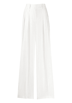 Alexandre Vauthier striped wide-leg trousers - White