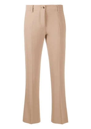 Alberto Biani mid-rise cropped trousers - Brown