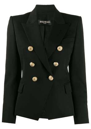 Balmain buttoned double-breasted blazer - Black