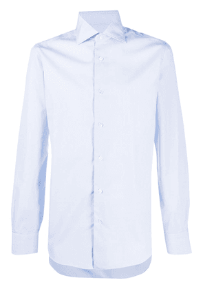 Barba button-up long-sleeved shirt - Blue