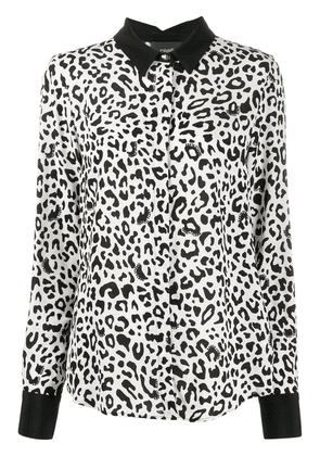 Cavalli Class leopard print loose-fit shirt - White
