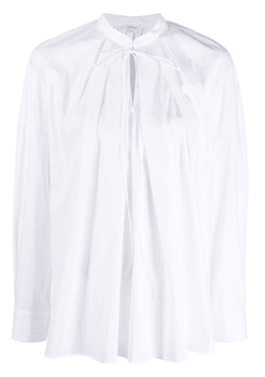 Enföld front pleated blouse - White