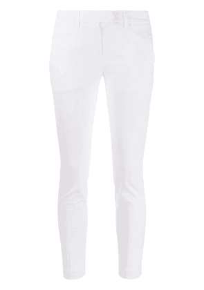 Dondup cropped skinny trousers - White