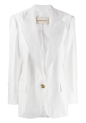 Alexandre Vauthier striped single-breasted blazer - White