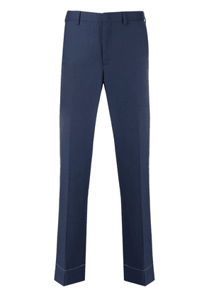 Brioni pleated detailed tailored trousers - Blue