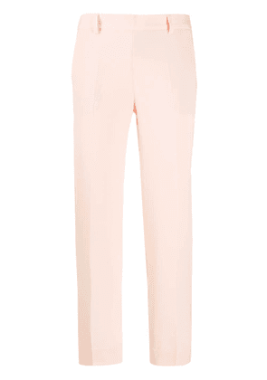 Alberto Biani pleated cropped trousers - PINK