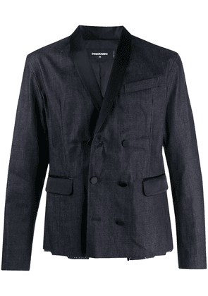 Dsquared2 double-breasted chambray jacket - Blue