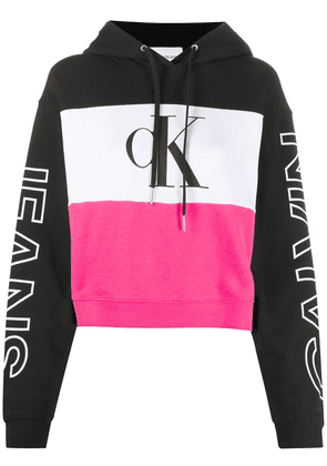 Calvin Klein Jeans colour-block hooded sweatshirt - Black