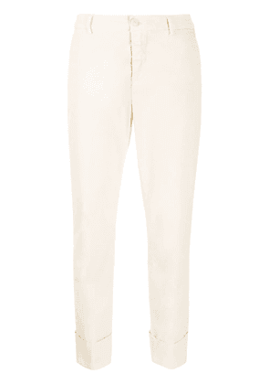 Closed mid-rise cropped trousers - NEUTRALS