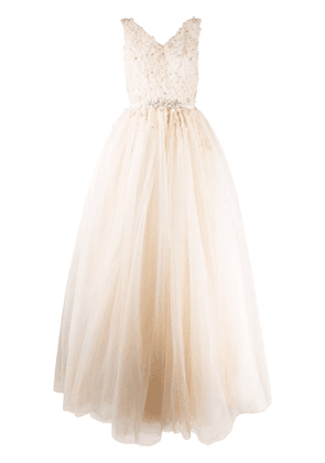Loulou embellished tulle gown - NEUTRALS