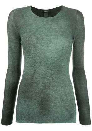 Avant Toi long sleeved round neck jumper - Grey