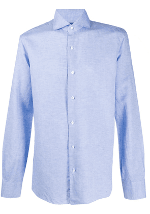 Barba button-up long sleeved shirt - Blue