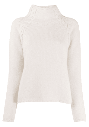 'S Max Mara slouchy cable knit detail jumper - NEUTRALS