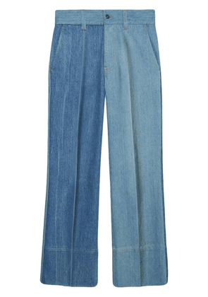 Gucci patchwork flared jeans - Blue