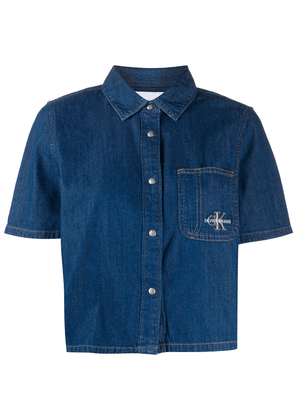 Calvin Klein Jeans short-sleeved denim shirt - Blue