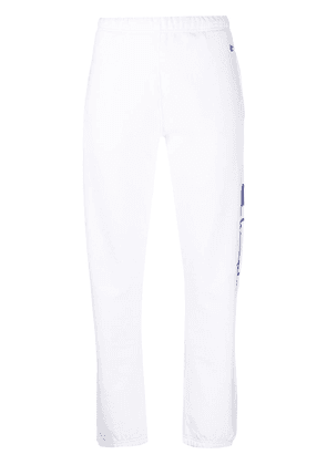 Champion high-rise logo-embroidered track pants - White