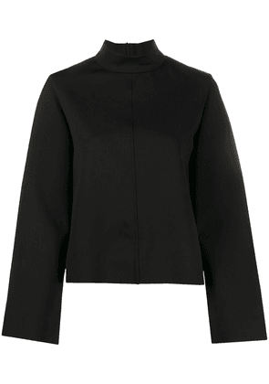The Row long sleeve zip-up top - Black