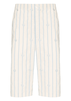 Gucci Double G striped shorts - White