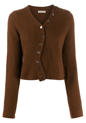 Aalto curved front button fastening cardigan - Brown