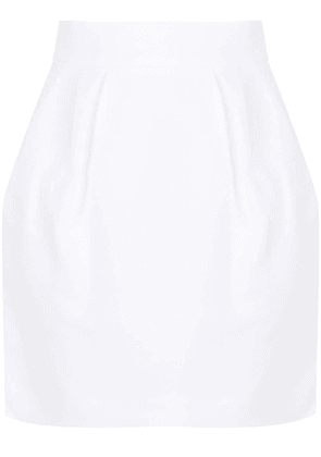 Alexandre Vauthier pinched straight skirt - White