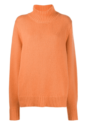 The Row cashmere roll neck jumper - ORANGE