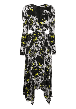 Alice+Olivia abstract print cut-out dress - Black