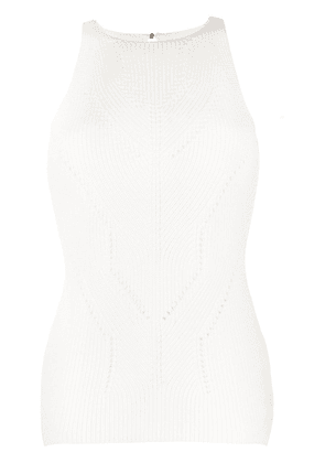 Ermanno Scervino perforated knitted top - White