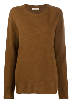 The Row crew-neck long sleeve jumper - Brown