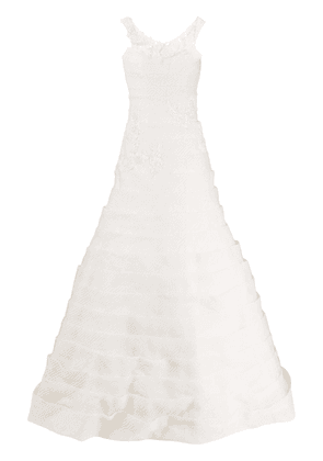 Loulou layered planel bridal gown - NEUTRALS