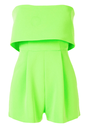 Alex Perry Darby strapless playsuit - Green