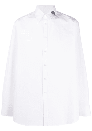 Valentino embroidered sequinned collar shirt - White