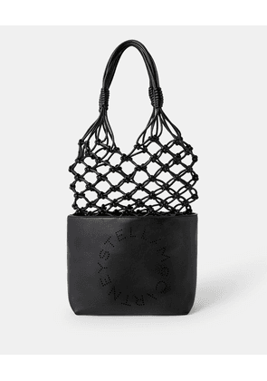 Stella McCartney Black Logo Knotted Bag, Women's, Size OneSize