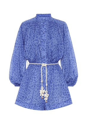 Exclusive to Mytheresa – Leopard-print linen playsuit