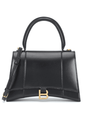 Hourglass M leather shoulder bag