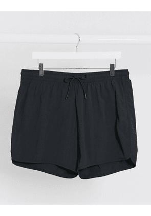 Weekday Tan Structure swim shorts in black