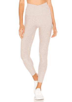 Beyond Yoga At Your Leisure Legging in Beige. Size M.