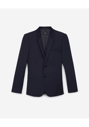 The Kooples - Formal navy blue jacket with shawl lapel - MEN