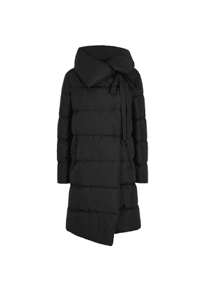 Bacon Big Puffa Black Quilted Shell Coat