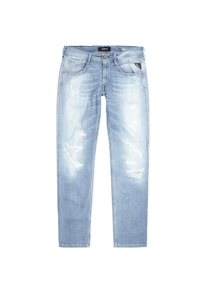 Replay Anbass Aged 20 Years Slim-leg Jeans