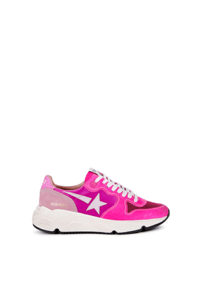 Golden Goose Deluxe Brand Running Sole Pink Panelled Sneakers