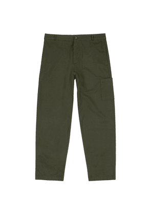 Oliver Spencer Judo Forest Green Cotton Cargo Trousers