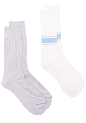 ANONYMOUS ISM set of two socks - White