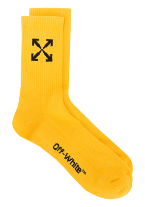 Off-White Arrows jacquard socks - Yellow