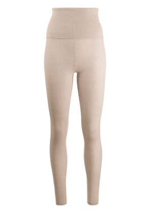Eres ribbed knit cashmere leggings - Brown