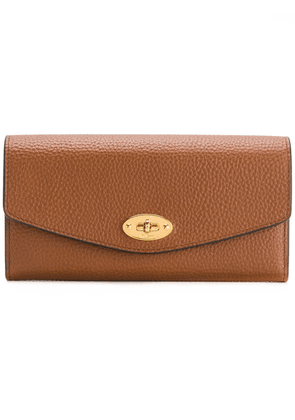 Mulberry pebbled twist-lock purse - Brown