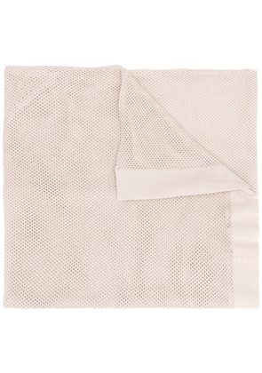 Eres perforated knitted scarf - NEUTRALS