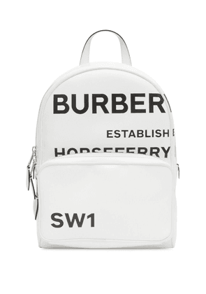 Burberry Horseferry print backpack - White